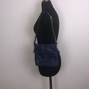 Dooney & Bourke Blue Leather Shoulder Bag